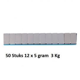 Balanceergewicht Plaklood ijzer 12 x 5g 50 strips