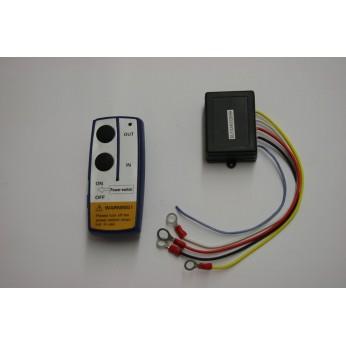 Draadloze lieren afstandsbediening 12 volt.