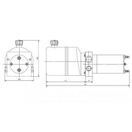 Hydraulische pomp twee richtingen 12V 0,8 kW 1.4 Liter