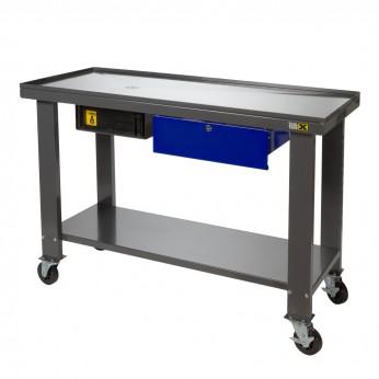 Werktafel met olie opvang
