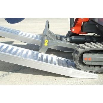 Oprijplaten set Alu 250 cm 4500 kg CE/TüV.