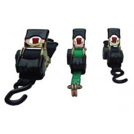 Spanband Sjorband 3m. 50mm. Automatisch Oprolmechanisme