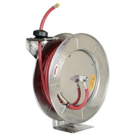 Slanghaspel automatisch RVS water/olie 20m.